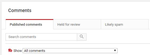 YouTube Community Management