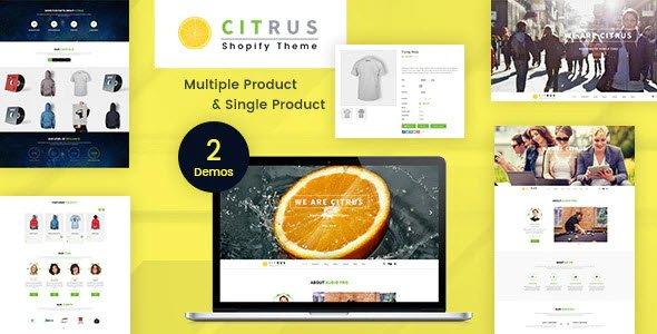 Citrus One Page Shopify Theme