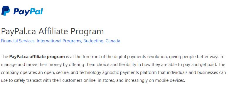 PayPal Affiliate Program FlexOffers